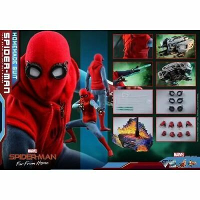 $ CDN477.60 • Buy 1/6 SpiderMan Far From Home Spider Man Homemade Suit Figure MMS552 Hot Toys