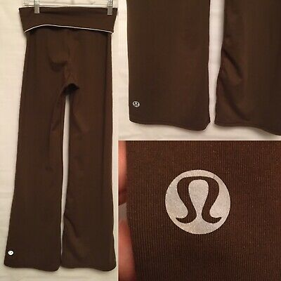 $ CDN34.99 • Buy Lululemon Woman Size 4 Relax Fit Yoga Pants Roll Down High Rise Brown
