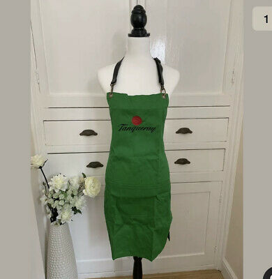 Tanqueray Gin Green Leather Strap Apron (New)pub Bar Man Cave Collectables • 10£