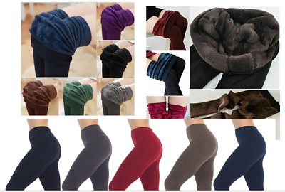 £5.75 • Buy  Ladies Thick Winter Thermal Leggings Fleece Lined Warm High Waist  SIZE 6 TO 14