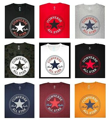 $24.99 • Buy NWT Converse Men SS Crew T-Shirt Tee  ALL STAR CHUCK TAYLOR PATCH EDITION