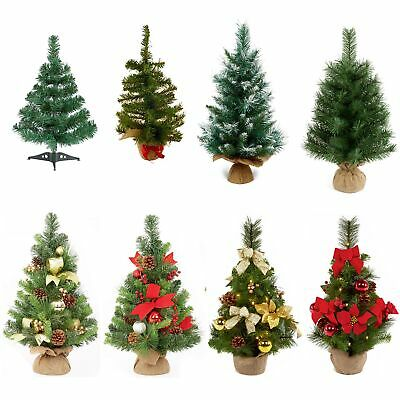 45-60cm Table Top Plain Or Dressed Christmas Tree Indoor Use Home Office School • 3.49£