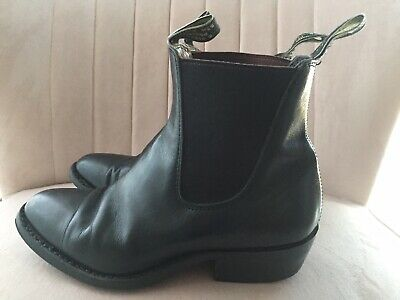 AU120 • Buy RM Williams Yearling Black Leather Boots Size 4.5G (EUR 37) In Vgc Rrp$595