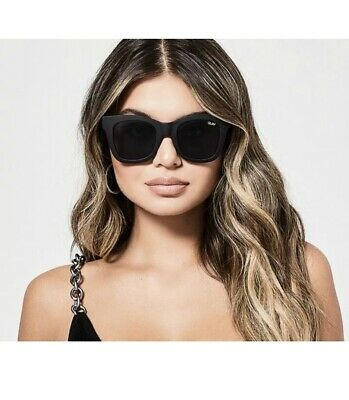 AU38 • Buy Quay Sunglasses Matt Black Square Cat Eye After Hours Current Stock RRP $65