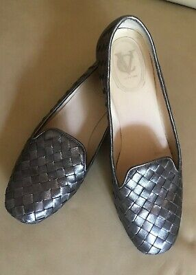 Vince Camuto Signature Women's Shoes Flats Woven Metallic Pewter 9/39 • 14.47£