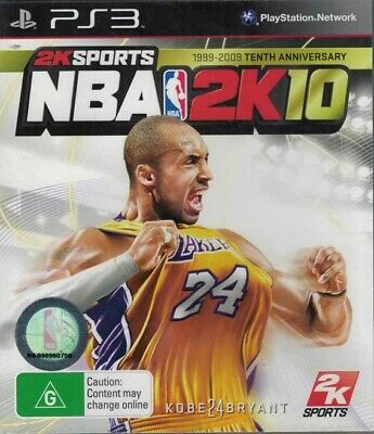 AU12.95 • Buy NBA 2K10, Playstation 3 Game, USED