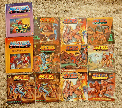 $40.99 • Buy Lot Of 12 Vintage Masters Of The Universe Golden Books He-Man Comics 1980s MOTU