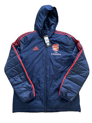 Arsenal Adidas Player Issue Padded Coat BNWT Size Adult Small 👊⚽️⚽️ • 65£