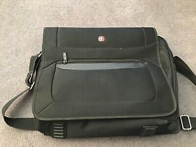 WENGER Swiss Black Large Briefcase / Messenger Laptop / Travel / Bag 42x36x10 CM • 14.99£