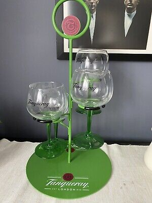 4x Tanqueray Gin Baloon Glasses With Stand • 20£