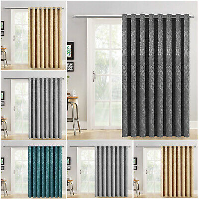 Single Panel Door Blackout Curtain Eyelet Ring Top Extra Wide Extra Long Curtain • 20.99£