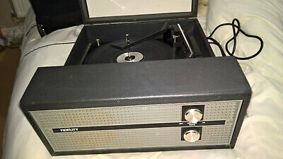 Fidelity HF45 Blue Record Player BSR Turntable • 95£