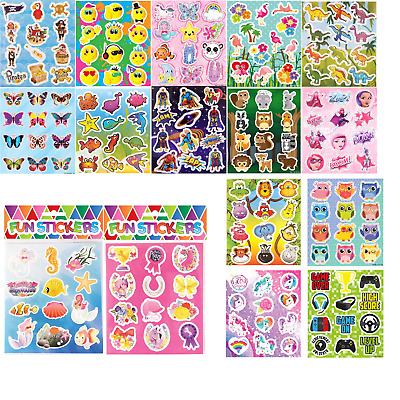 £1.69 • Buy Childrens Stickers Kids Birthday Party Sticker Sheets Loot Bag Party Fillers
