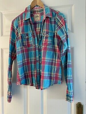 Hollister Ladies Check Shirt , Size Med, Long Sleeve • 3.50£
