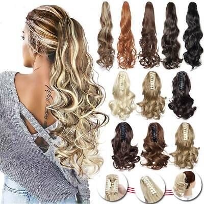 Long Thick Pony Tail Claw Clip In Hair Extension Ponytail Hairpiece Wavy As Real • 10.95£