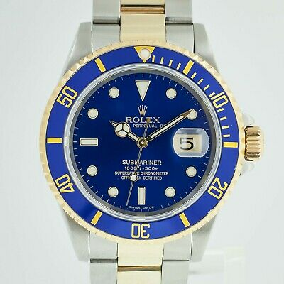 $ CDN15194.08 • Buy Rolex Submariner Date Ref 16613 T Men's Stainless Steel And 18K Gold Blue Dial