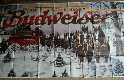 $ CDN73.74 • Buy GIANT Budweiser Clydesdale Poster 5' X 11' The Seasons Best RARE