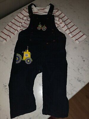 Boys Tractor Dungarees 12-18 Months • 5£