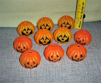 $ CDN10.56 • Buy Cool LOT Vintage Halloween Jack O' Lantern String Light Covers Blow Mold