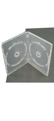 10 Clear Blank Empty Used DVD Cases • 5.50£