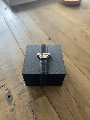Armani Solid Silver Cuffs Links - Mint Condition, Cost Over £150 • 29.99£