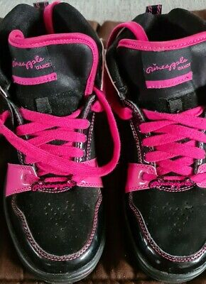 £15.99 • Buy Worn Once, Pineapple, Black & Pink  Hi Tops Trainers Size 5