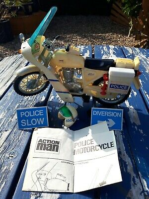 Action Man Police Motorcycle Motor  Bike Accessories And Instructions.  • 10.50£