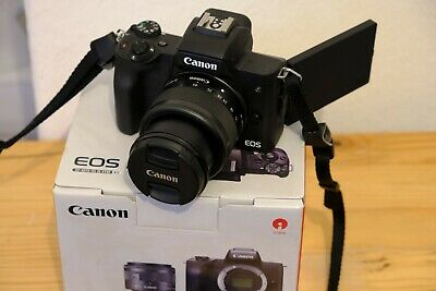 View Details Canon EOS M50 Mirrorless Digital Camera With 15-45mm Lens - Black (2680C011) • 430.00£