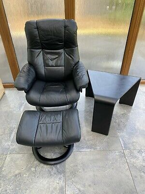 Ekornes Stressless Leather Recliner Chair , Stool And Table • 126£