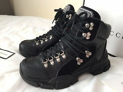 Gucci - Ladies Flashtreck Hiking Black Leather Ankle Boots Size Uk5 - Cost £900 • 450£