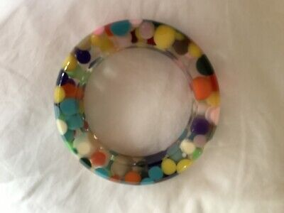 Jackie Brazil Signed Sobral Multi Coloured Bangle • 35£