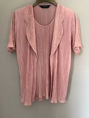 £11 • Buy Forever By Michael Gold Womens Blouse Pink L