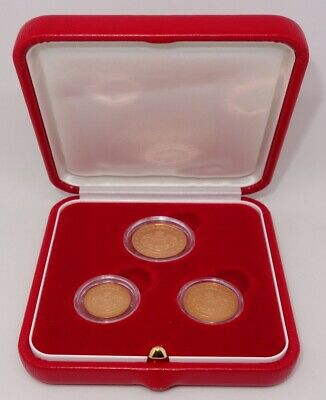 $ CDN131.81 • Buy Monaco 2005 1-2-5 Euro Cents *pristine 3 Coin Proof Set In Mint Packaging*