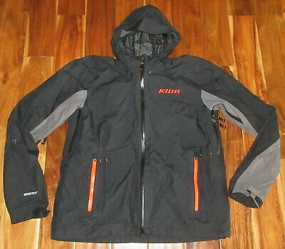 $ CDN197.72 • Buy Klim Men's Stow Away Jacket Gore-Tex Black & Orange Hooded Scotchlite $259 Sz XL