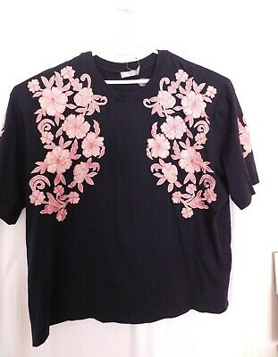 AU23 • Buy Asos Size 22 Curve Shirt With Embroidered Flowers BNWT