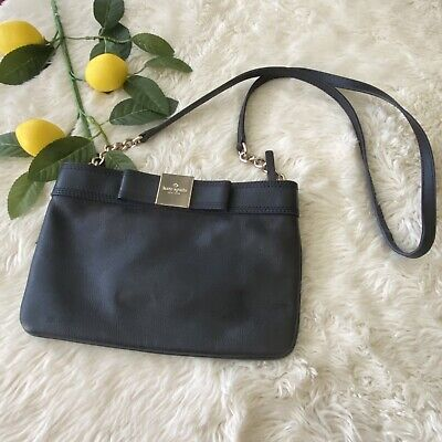 $ CDN65.66 • Buy Kate Spade Primrose Hill Arica Black Leather Crossbody Shoulder Bow Bag