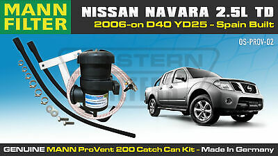 AU345 • Buy ProVent Oil Catch Can Kit For Nissan Navara D40 2.5L R51 YD25 2006-15 ONLY Spain