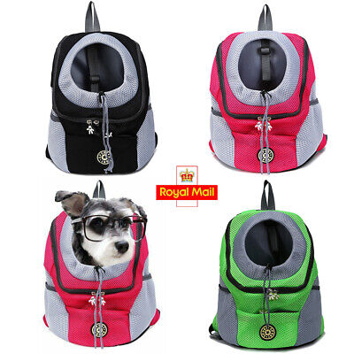 £15.99 • Buy Pet Dog Cat Outdoor Travel Carrier Backpack Small Medium Dogs Grid Carry Bag UK