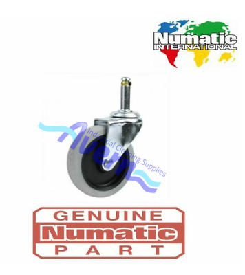 Genuine Numatic 204060 Commercial Rubber Caster Wheel WVD CTD NVDQ 570 572 • 9.99£