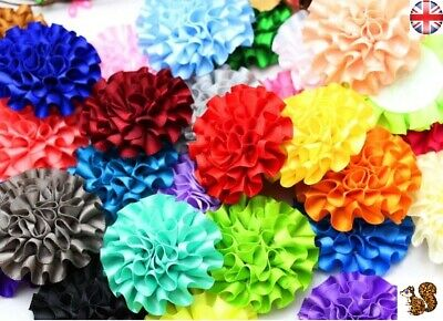 5pcs Ribbon Flowers  Sewing Appliques Craft Wedding Decoration  • 2£
