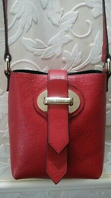 Karen Millen Red Leather Cross Body Bag. Condition Is Used • 35£
