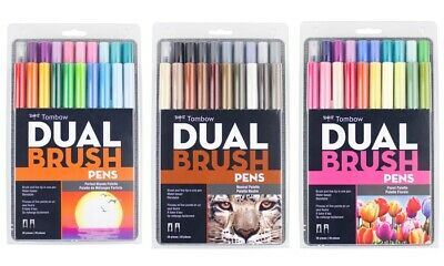 Tombow Dual Brush Artists Twin Tip Pen Markers - Set Of 20 (Choose Your Pack) • 46.34£