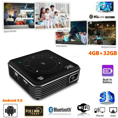AU346.31 • Buy Mini DLP 4000 Lumens Android 3D HD 1080P Home Theater Projector WIFI HDMI 4G+32G