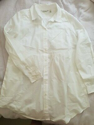 AU20 • Buy Country Road Ladies White Blouse Shirt Cotton Top Size M