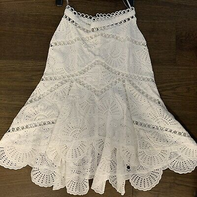 AU140 • Buy New Without Tags Zimmermann White Skirt Sz 0