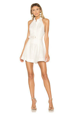 AU300 • Buy Zimmermann Primrose Halter Playsuit Linen Size 0, Pre-owned, Good Condition