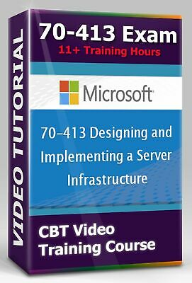 £2.89 • Buy Sеrvеr Infrаѕtruсturе 70-413 Exam - CBT Video Training Course - 11+ Hours