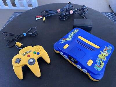 AU379 • Buy Nintendo N64 Pokemon Special Edition Console AUS PAL With Pokemon Controller 🔥