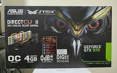 $ CDN240 • Buy ASUS STRIX NVIDIA GeForce GTX 970 4GB Video Graphics Card Unused RMA Replacement