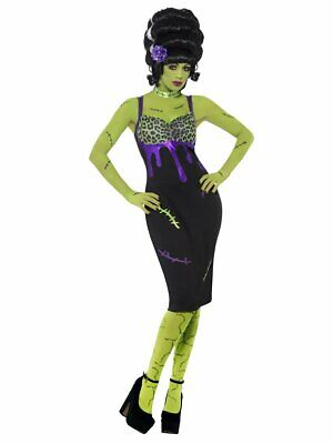 SMIFFYS Womens Pin Up Frankie Frankenstein Bride Horror Halloween Costume SMALL • 11.99£